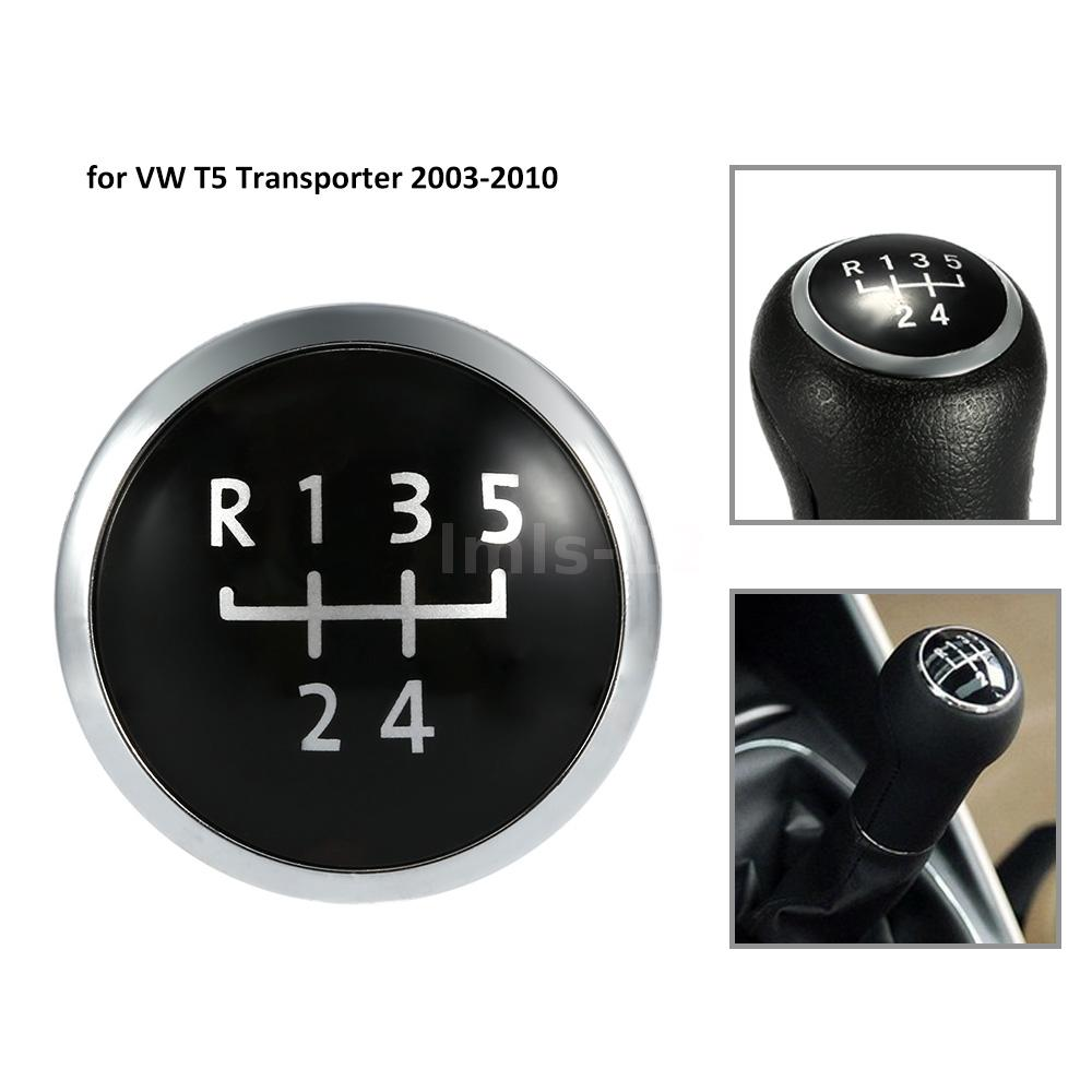 6 Speed Gear Knob Badge Cap Cover Durable For VW T5 Transporter 03-10 NEW